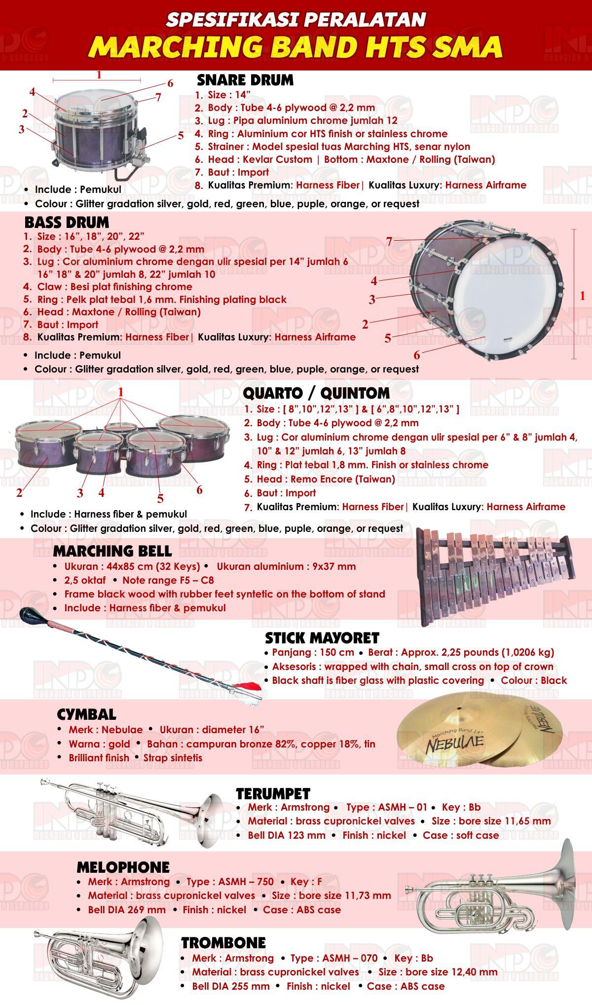 Spesifikasi Marching Band HTS SMA