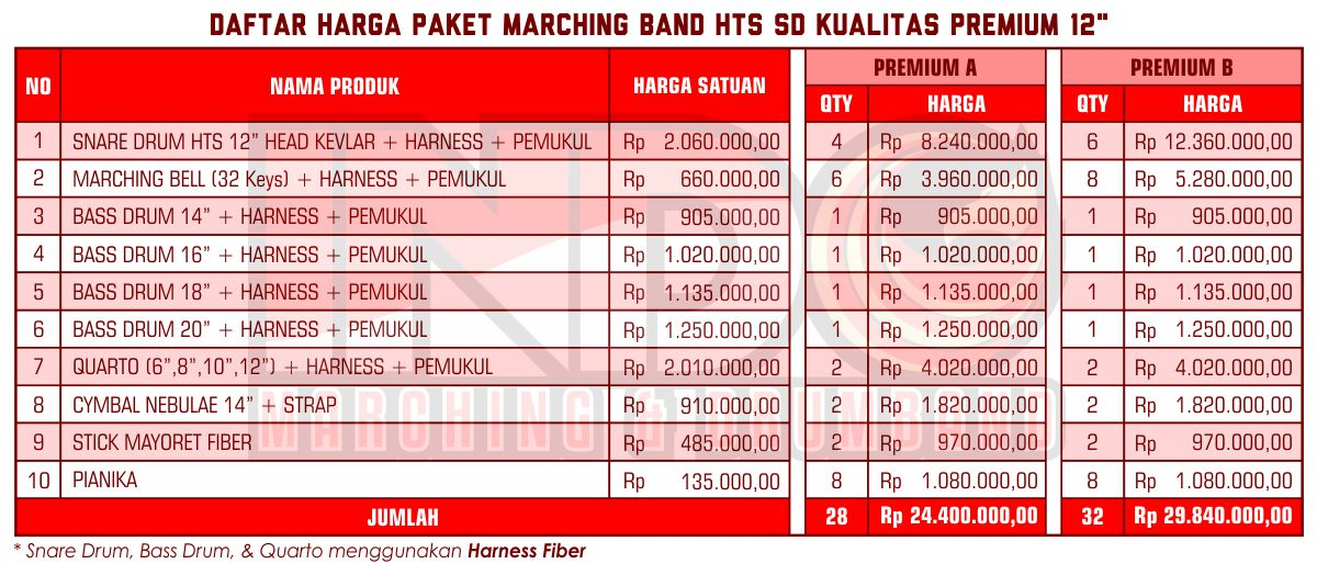 Harga ID Marching Band SD Premium 12'
