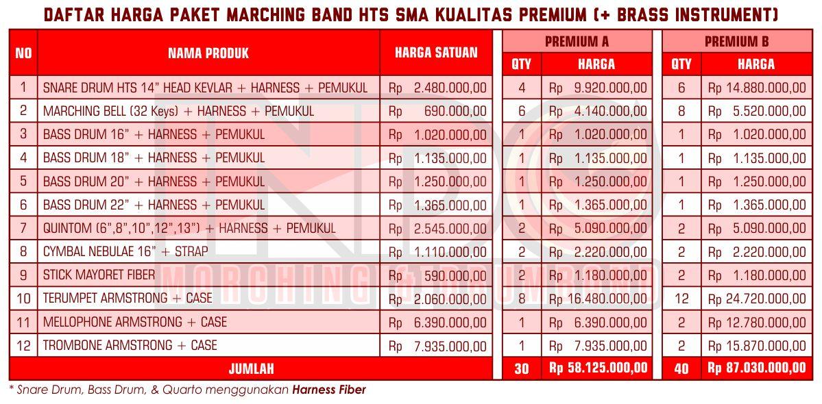 Harga ID Marching Band SMA Premium 2