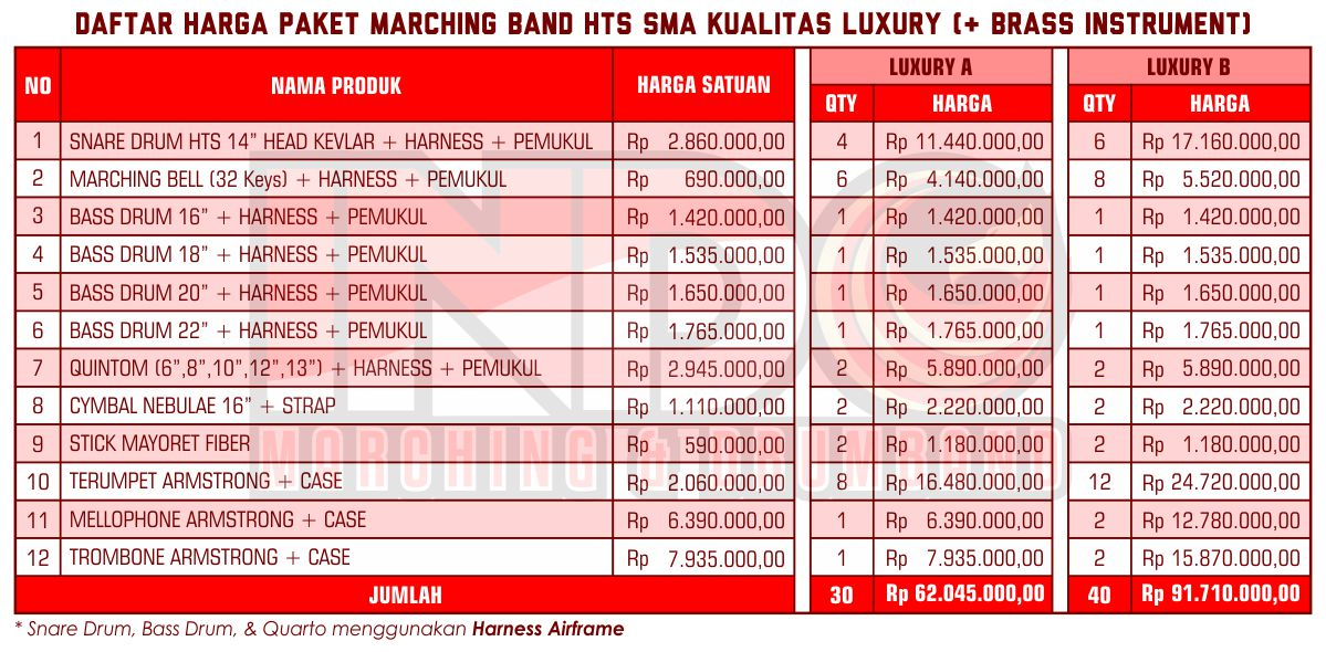 Harga ID Marching Band SMA Luxury 2