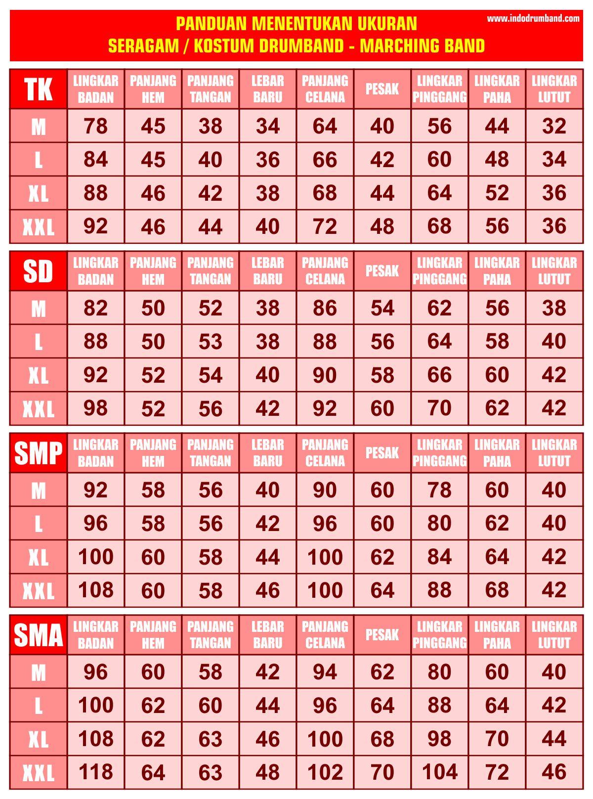 Harga ID Ukuran Seragam 2019